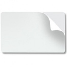 Self Adhesive White Plastic card