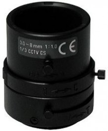 "F1.0/3-8mm Lens, 1/3"" CS Mount, Variable Focal Length F03Z2.710M"