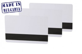 Ultra white Plastic card with LoCo magnetic stripe