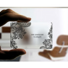 Transparent Plastic PVC Business Cards
