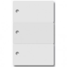 Ultra white snap Plastic Key tag card