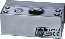Suport din inox pentru montarea bolturilor electrice la usi de sticla