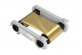 Gold mono ribbon for Evolis Zenius/Primacy printers- 1000 img