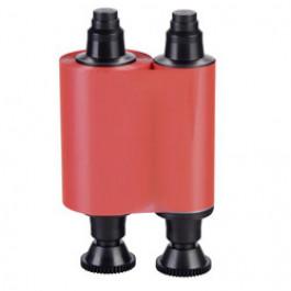 Red mono ribbon for Evolis printers