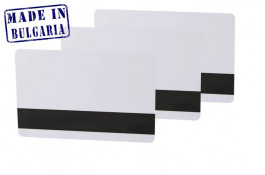 Ultra white Plastic card with HiCo magnetic stripe