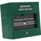 Break Glass Fire Emergency Exit Button (Green)