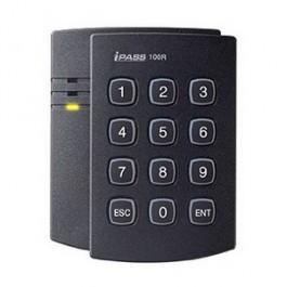 125 kHz ASK (EM) Самостоятелен терминал с четец и клавиатура за контрол на достъп до една врата  и отчитане на работно време IP 100R