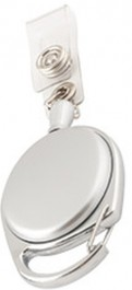Ролетка за бадж елипса- Сребро