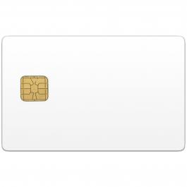 CR80-28: PVC бяла контактна Смарт карта с чип FM5528
