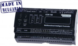 ICON160  Мултифункционален контролер за контрол на достъп , сот и автоматика с вградено захранване