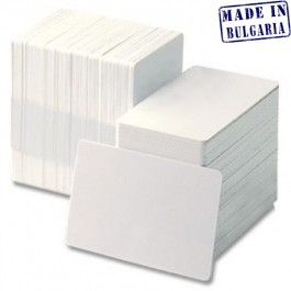 Бели пластмасови PVC карти (Ultra white)
