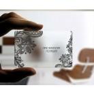 Пластмасови прозрачни визитни картички- Матова