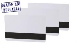 Hochwertige weiße Plastikkarten mit HiCo Magnetstreifen