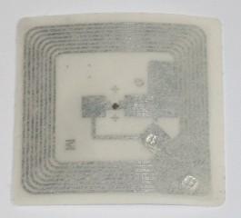 NFC 13.56 MHz MF Compatible Fudan F08 ISO 14443 A kontaktlose quadratische selbstklebende Chipkarte
