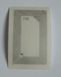 NFC 13,56 MHz MF Compatible Fudan F08 ISO 14443 A adhesive RFID label-card