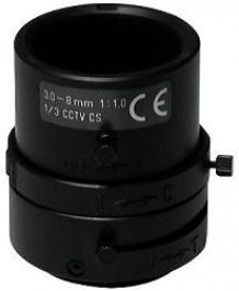 "F1.0/3-8mm Lens, 1/3"" CS Mount, Variable Focal Length F03Z2.710M"