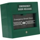 Break Glass Fire Emergency Exit Button (Green)